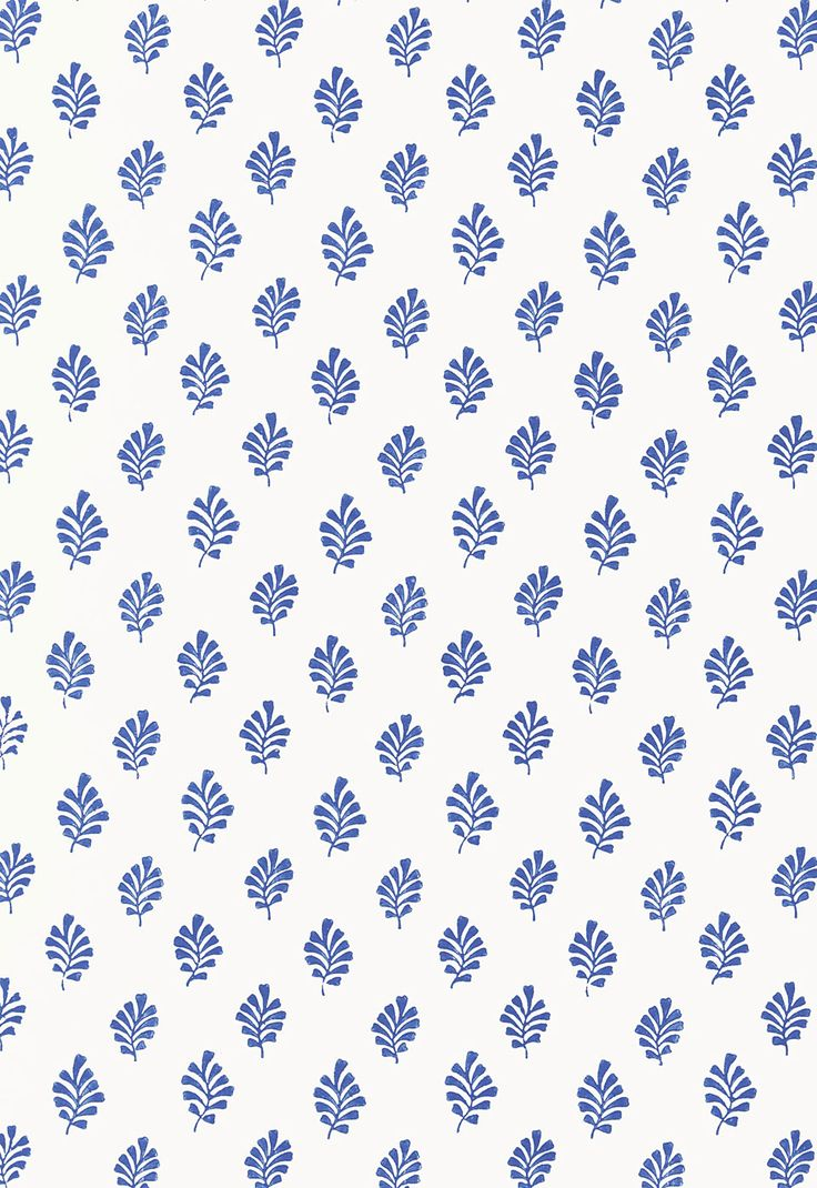 Wallcovering / Wallpaper | Bakara Leaf in Delft | Schumacher