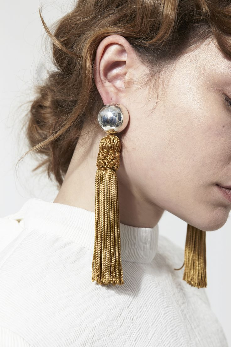 @SophieBuhai tassel earrings at @mrlarkin