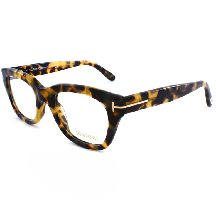 With fashionable temple accents and vintage tortoise frames, these thick framed Tom Ford eyeglasses present a sophisticated style. These eyeglasses include a cleaning cloth and protective case.