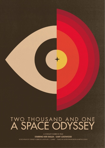 "2001: A Space Odyssey by Brandon Schaefer from  ""The Modernist: The Discovery of Classical Modernism in Current Graphic Design"""