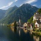 Scenic Village in the Swiss Alps