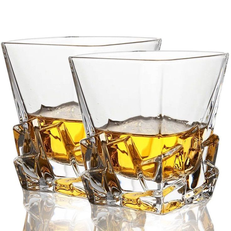 Awesome 10 Oz Scotch Whiskey Glasses Irish Bourbon Whisky Tumbler Cocktail Set Of 2  / 6 #