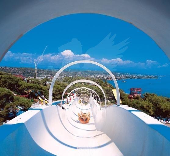 ТУРЦИЯ! Летим на море! Алания, отель Water Planet 5*, номер Standart, Ультра Все Включено, вылет 04.05 на 10 дней - 1240 долл. на двоих с авиа! Это самый большой центр развлечений и Аквапарк на Средиземноморском побережье,     включающий множество аттракционов, горки, бассейны  и  искусственный рафтинг.
