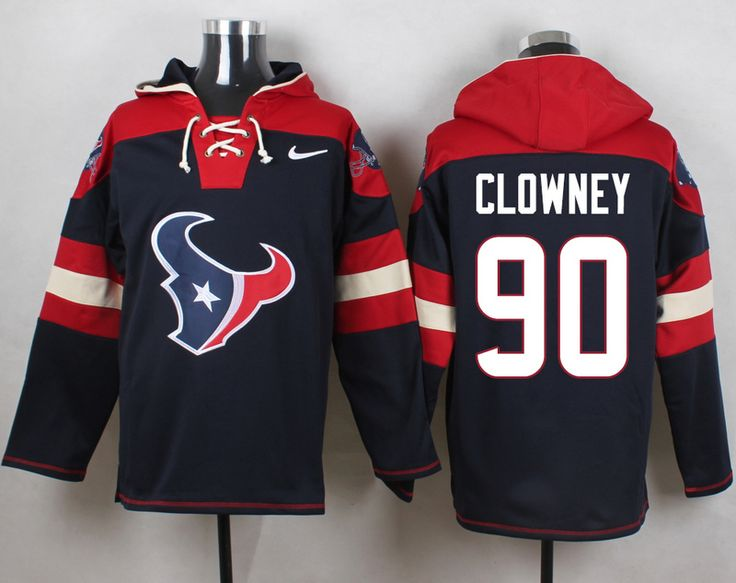 ... Limited Jersey Buy Cheap Mens Nike Houston Texans 90 Jadeveon Clowney  Navy Blue Player Pullover NFL Hoodie ... dccd3d6f2