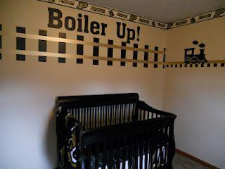 Just because it's Purdue..Cutest Nurseries, Purdue Nurseries, Purdue Nursery, Nursery Ideas, Purdue Gears, Purdue Boilermaker, Training Baby Nurseries, Brose Nurseries, Nurseries Ideas