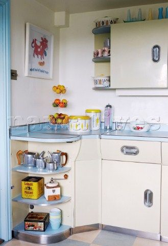 1950s kitchen with retro style homeware                                                                                                                                                                                 More