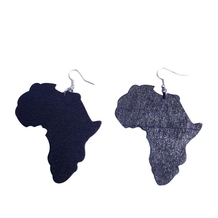 40 best Africa Shaped Earrings images on Pinterest