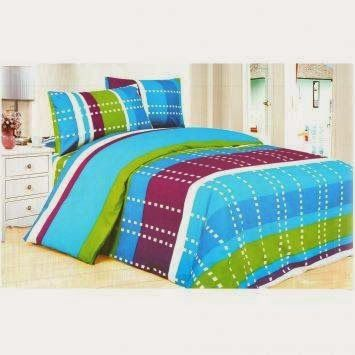 Royalinen Set Bed Cover + Sprei Aries | Perabot Rumah Tangga