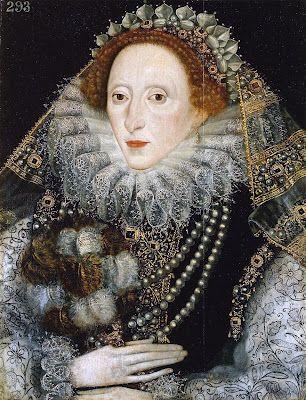 'Queen Elizabeth I with a Fan', 1585-1590.  Artist unknown