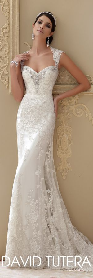 The David Tutera for Mon Cheri Spring 2015 Wedding Dress Collection - Style No. 115229 Lourdes   davidtuteraformoncheri.com  #weddingdresses