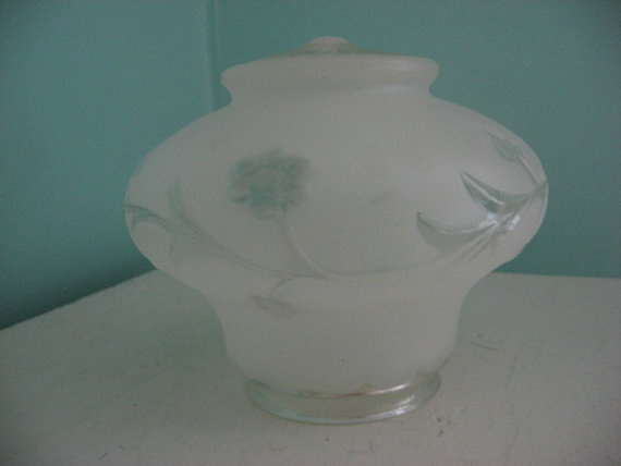 vintage glass light fixture cover glass dome