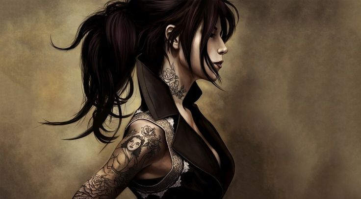 Fantasy Women Art Tattoo Artwork Wallpapers and Free Stock Photos - Visual Cocaine -Image category:Fantasy / Imagination.