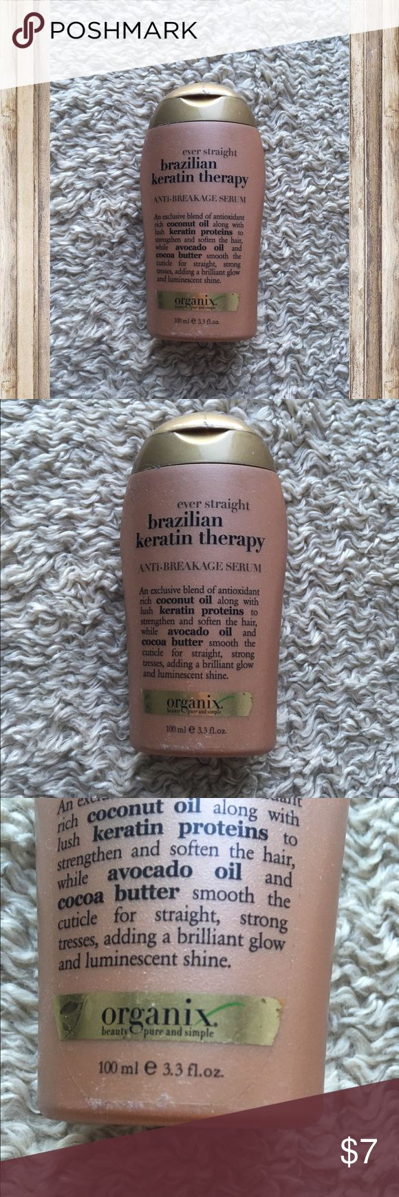 Brazilian keratin therapy treatment 3.3 oz Brazilian keratin therapy treatment 3.3 oz  🌙If it is listed it is available ⭐️No trades 💫Authentic  ☀️No Modeling organix Other