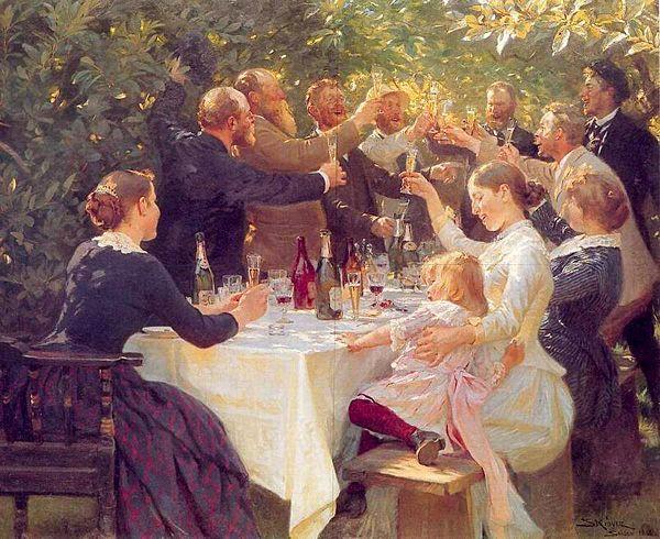 P.S. Krøyer: Hip, Hip, Hurra - 1888