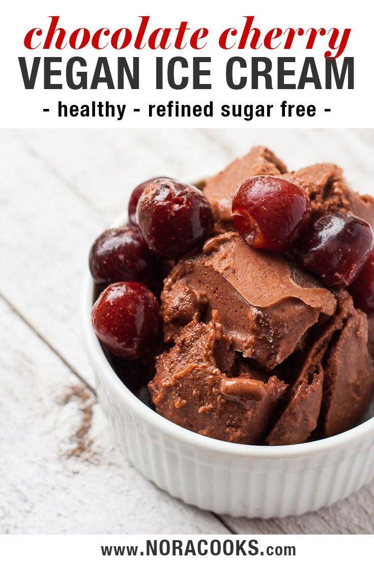 Healthy Dairy Free Fruit Sweetened Chocolate Cherry Ice