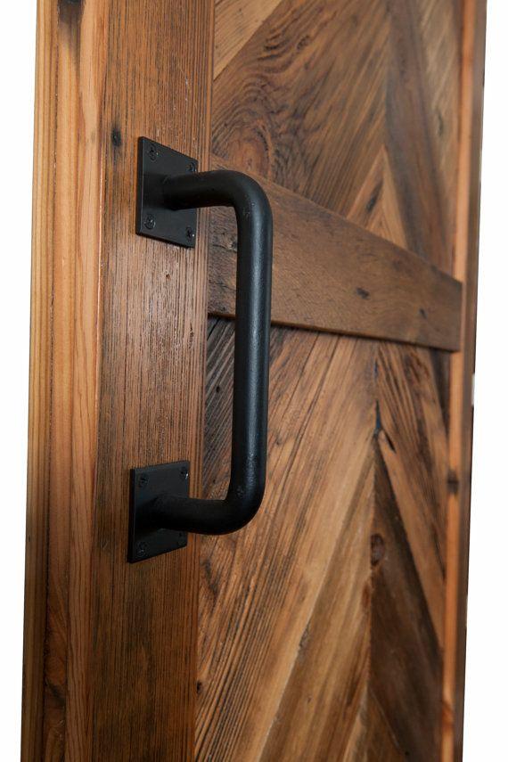 Heavy Solid Classic Steel Round Barn Door Handle Etsy Barn Door Handles Door Handles Barn Door