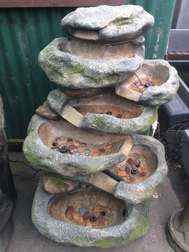 Rock Cascade Fountain (fibre glass) with pump and lights 70cm L x 55cm W x 120cm H $999
