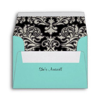 #party - #BABY & CO. Tiffany Dress Note Card A2 Envelope
