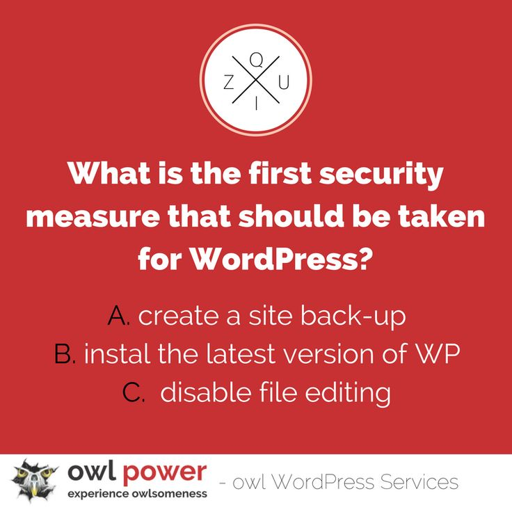 WordPress sites are notoriously lacking when it comes to security.  Find out how to secure yours. http://ow.ly/clbR305XIRx