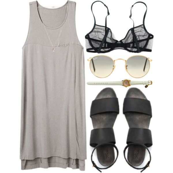too easy by animagus on Polyvore featuring mode, rag & bone, La Perla, Lulu Frost and Ray-Ban