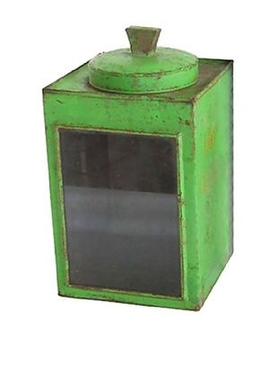 Cracker Box with Glass Side, Green $75