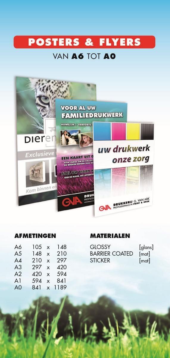 wij drukken al uw posters en flyers #promotiedagen #vakbeurzen www.drukkerijvanark.nl/