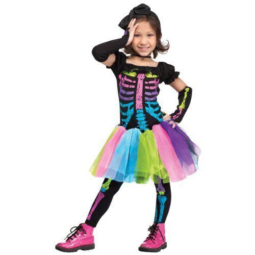 one of the cutest and colorful skeleton costumes ever find this pin and more on toddler girls halloween