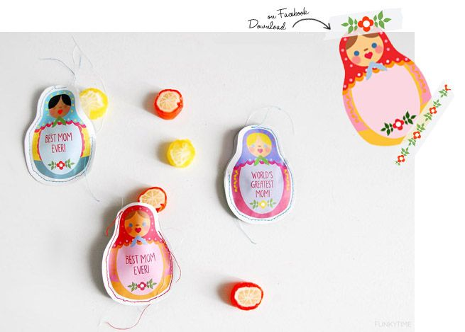 Mother's Day printable Matryoshkas: Mom Gifts, Gifts Ideas, Free Printable Would, Mother'S Day Printables, Printable Free, Gifts Tags, Mothers Day Printable, Printable Gifts, Free Printables