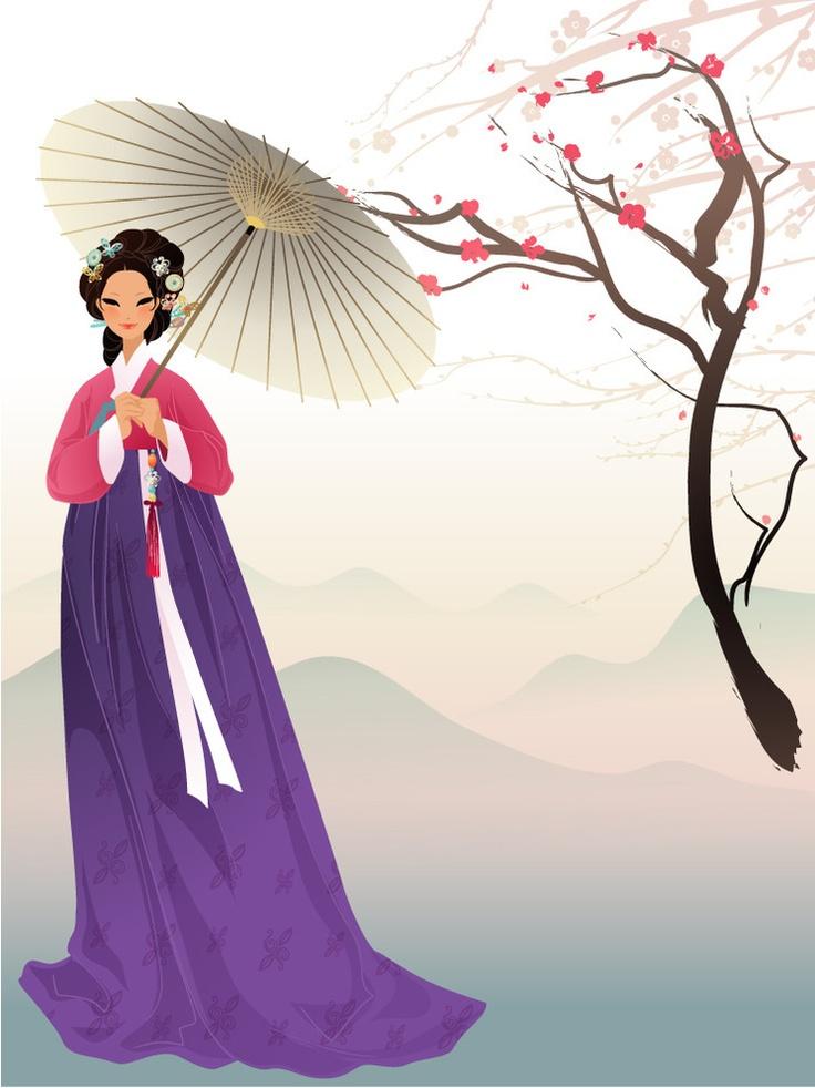 .Hanbok Illustration.