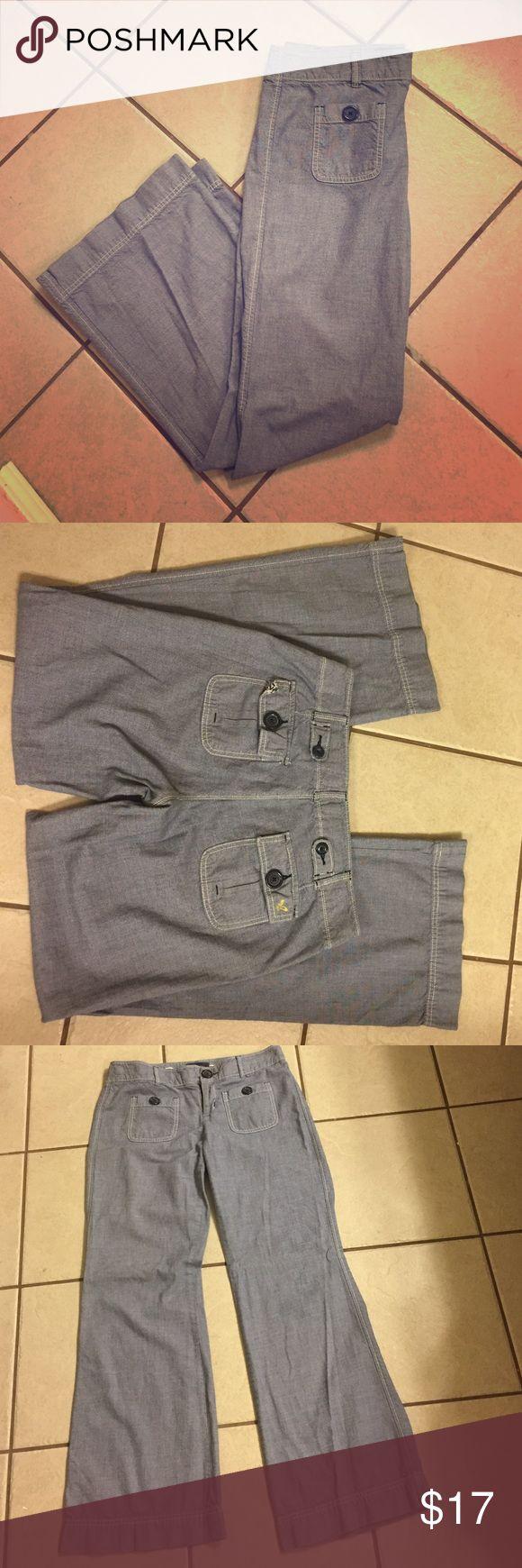 American Eagle Outfitters Pants Fabulous chambray fabric. American Eagle Outfitters size 6. Super cute. Wide leg. American Eagle Outfitters Pants Trousers