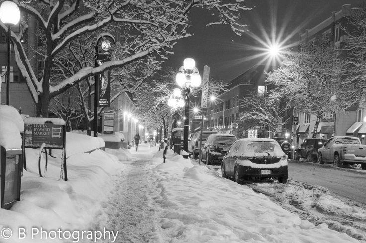 Ottawa, Ontario - Snowy Winter Night-  Streets of Ottawa