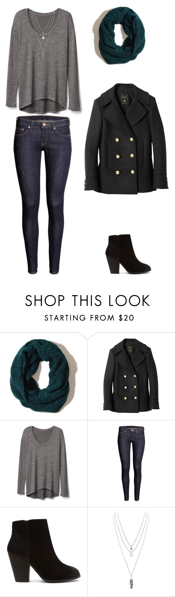 """Winter Outting"" by winchestergirl188 on Polyvore featuring Hollister Co., Balmain, Gap, H&M, Report and Humble Chic"