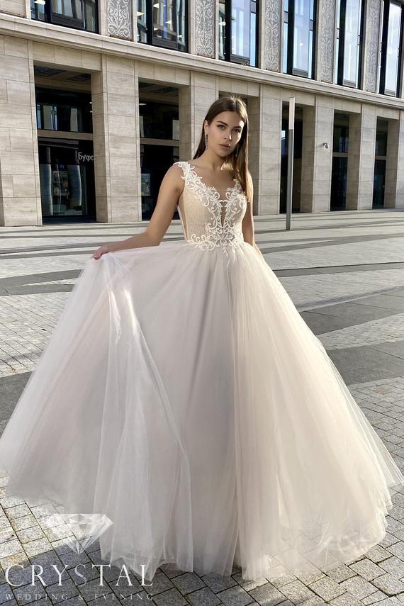Lace Wedding Dress Princess Wedding Dress Mod Wedding Gown Etsy In 2020 Wedding Gown A Line Princess Wedding Dresses Wedding Dresses Lace