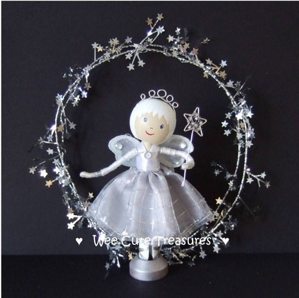 Silver Fairy with wand