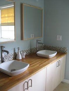 ikea hack bathroom remodel vanity using the akurum top cabinets and wall mount vanities