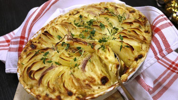 Potatis: Krämig Hasselbacksgratäng, 4 port