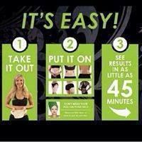 4. The wrap is so simple to use in the comfort of your own home! It only takes 45 minutes for the magic to start happening! - Take Before Picture!!! Very Important!! - Take it out of the package - Apply to your Target Area - Secure with a saran wrap, tight fitting clothing, or the new Fab Wrap from It Works! - Set your time for 45 minutes ‐ Remove and Rub in - Take after PICTURE!! - Make sure to drink water! At least 8-10 glasses a day for 72 hours!  www.boomsexy.myitworks.com