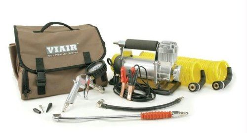 This RV portable compressor is more heavy duty and a fraction of the size & weight of compressors with the built in tank.