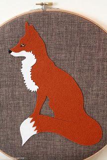 KipandFig - Mr Fox applique template