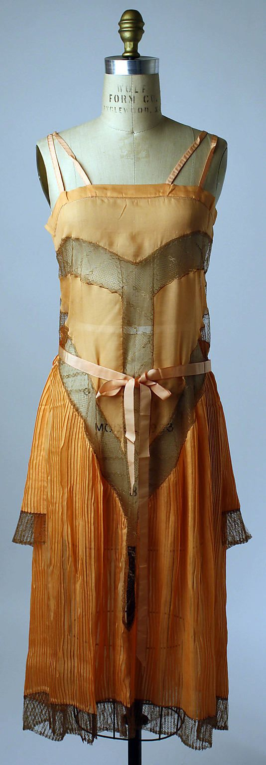 Slip  Callot Soeurs (French, active 1895–1937)  Date: ca. 1927 Culture: French Medium: silk, cotton