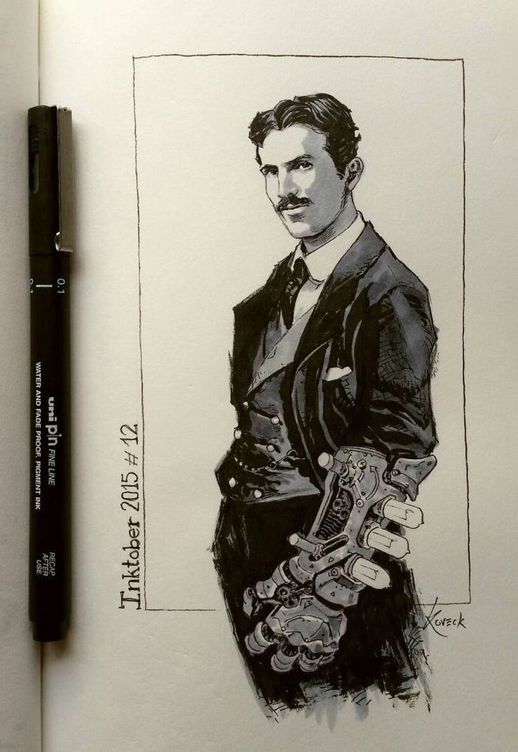 Inspiration can come from anywhere. Yesterday I saw a portrait of inventor Nikola Tesla and immediately he reminded me some sort of ancient Tony Stark. And... voilà! Tesla for…