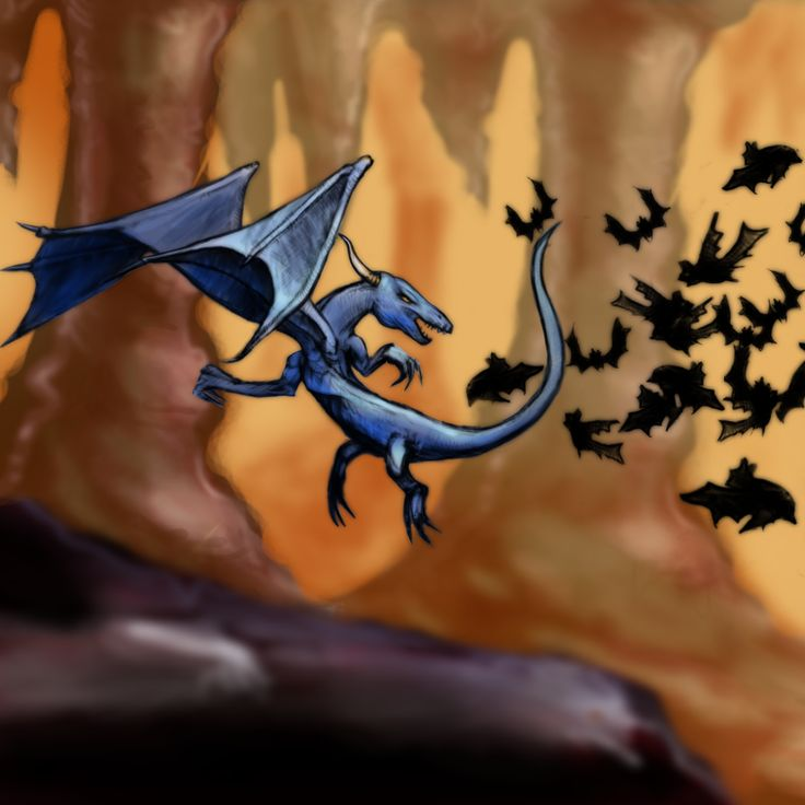 Dragon and Cave -  AC