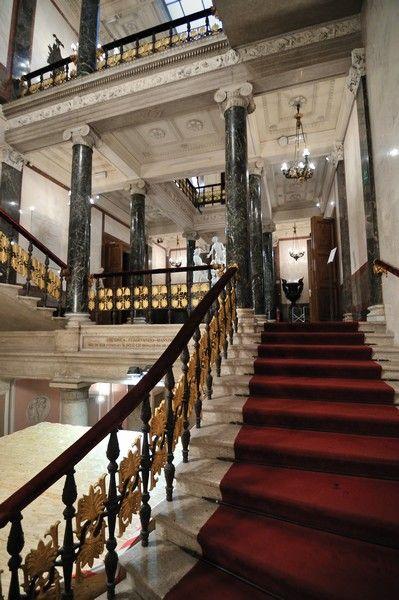 Trieste, Palazzo Revoltella.  Scalone