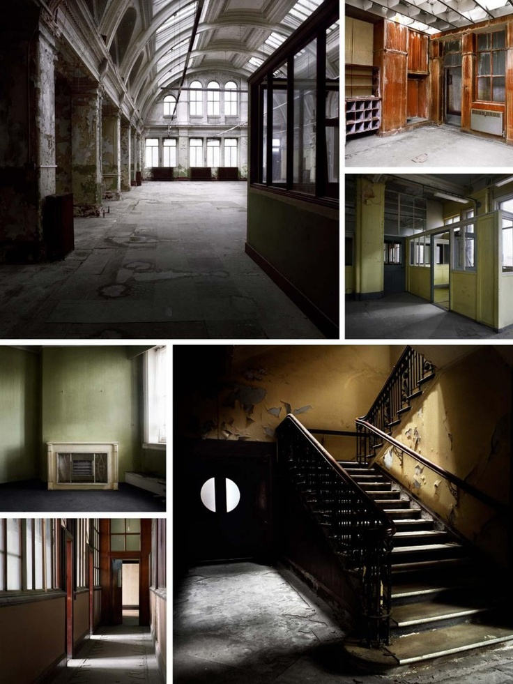 Abandoned Harland and Wolff offices. :) Hauntingly beautiful.