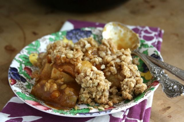 ginger pear crisp