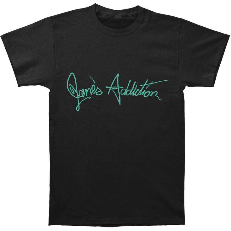 Janes Addiction Men's  Script T-shirt Black | Clothing, Shoes & Accessories, Men's Clothing, T-Shirts | eBay!