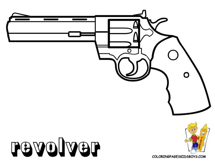pages to color for boys guns coloring of revolver gun at coloring pages