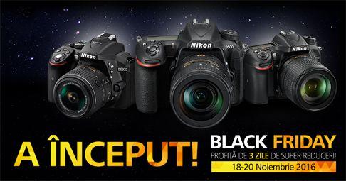Nikon Black Friday cu reduceri la echipamente foto Nikon, a inceput! Descopera toate produsele din promotie