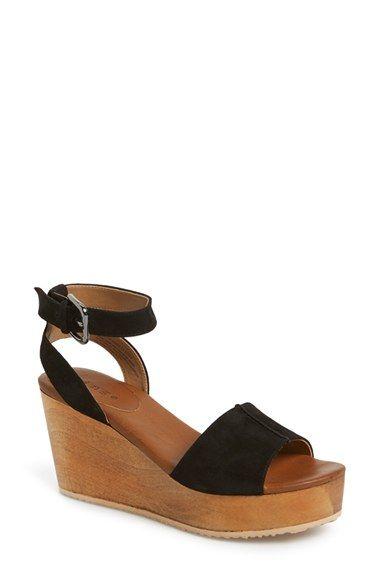 Hinge 'Aimee' Wooden Platform Wedge Sandal (Women) available at #Nordstrom