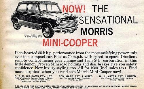 classic ad: Minis Dog Qu, Adverti Poster, Morris Minis, Minis Stuff, Minis Cooper, Cars Observed, Australian Adverti, Minis Ads, Minicoop Ads